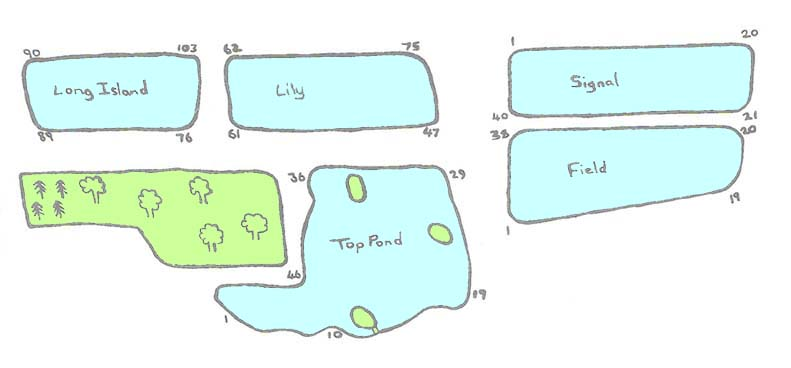 map of fishing ponds